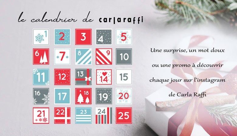 Le calendrier de l'avent de Carla Raffi